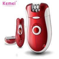 KEMEI 3 in 1 Women Shave Wool Device Knife Wool Epilator Electric Shaver Hair Removal Bikini Body Leg Hair Shaving KM 3068