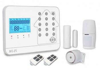 99 wireless Zones WiFi + GSM + PSTN alarm system.