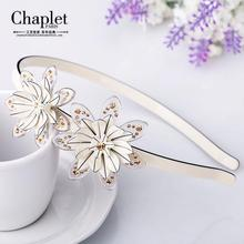 Chaplet 2016 New High Quality French Elegant Women Hair Accessory Rhinestone Hair Band Flower Headband with