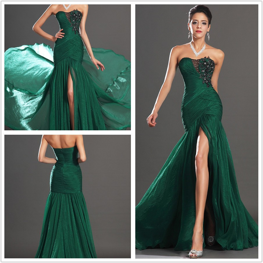 Enchanting Black And Green Prom Dresses Image Collection - Wedding ...