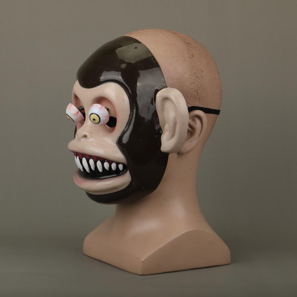 Animal Masks Animal Themed Costumes Monkey Orangutan Mask Cosplay Prop Halloween Accessories Men Women Face Mask Full Head (14)