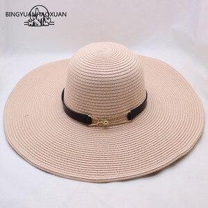 Image 5 - BINGYUANHAOXUAN Per Le Donne Sole di Estate Del Cappello Unisex Cappello Panama 2018 di Nuovo Modo di Arrivo di Paglia Della Protezione Della Spiaggia