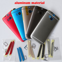New Aluminum Battery Housing Back Door Replacement For HTC One M8 With Top And Bottom Cover