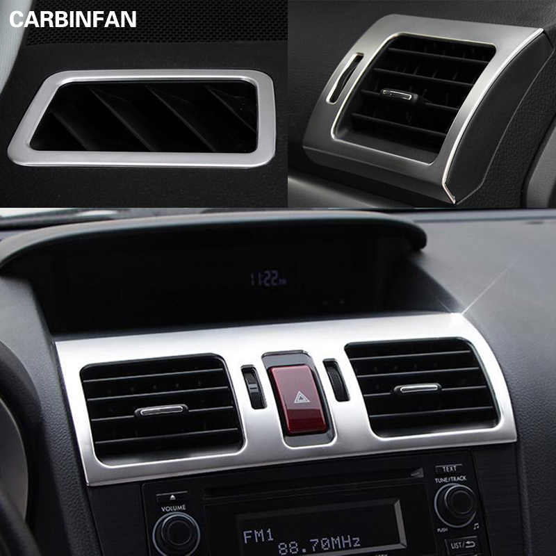 Stainless Steel Upper Down Middle Side Air Vent AC Conditioning Trim Sticker For Subaru XV Forester
