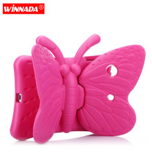 Kids case for ipad mini case Non-toxic EVA butterfly design full body cover stand Children case for ipad mini 1 2 3 4 kids cover for ipad mini 5 case non toxic eva shockproof washable stand hand holder case for ipad mini 1 2 3 4 5 7 9 inch