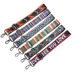 Цветной поясная сумка ремни регулируемые широкий ремень Запчасти для аксессуаров Obag ручка сумки нейлон для Для женщин плеча Курьерские