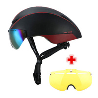 CAIRBULL 2 렌즈 AERO-R1 사이클링 헬멧 마그네틱 고글 산악 도로 공압 TT 자전거 헬멧과 자전거 안전 헬멧 경주