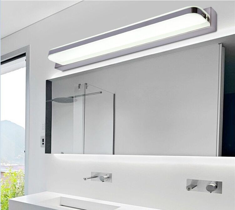 Mirror light led bathroom wall l& mirror glass waterproof anti fog brief modern stainless steel mirror cabinet mirror light-in LED Indoor Wall L&s from ... & Mirror light led bathroom wall lamp mirror glass waterproof anti fog ...