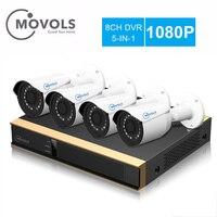 MOVOLS 8CH CCTV System 4PCS 1080P Camera 2000TVL Outdoor Security Camera 8CH DVR Day/Night Kit Video Surveillance