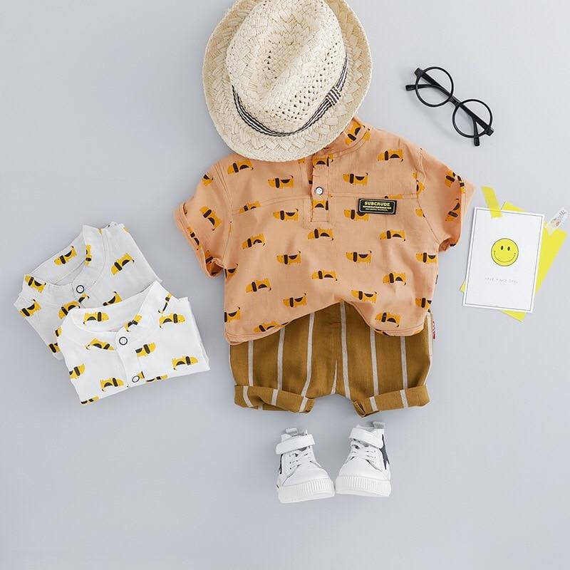 eea6f1914 Conjuntos de ropa de verano para niños 1-3y 2019 nuevo estilo de moda  Material de algodón LW027 ...