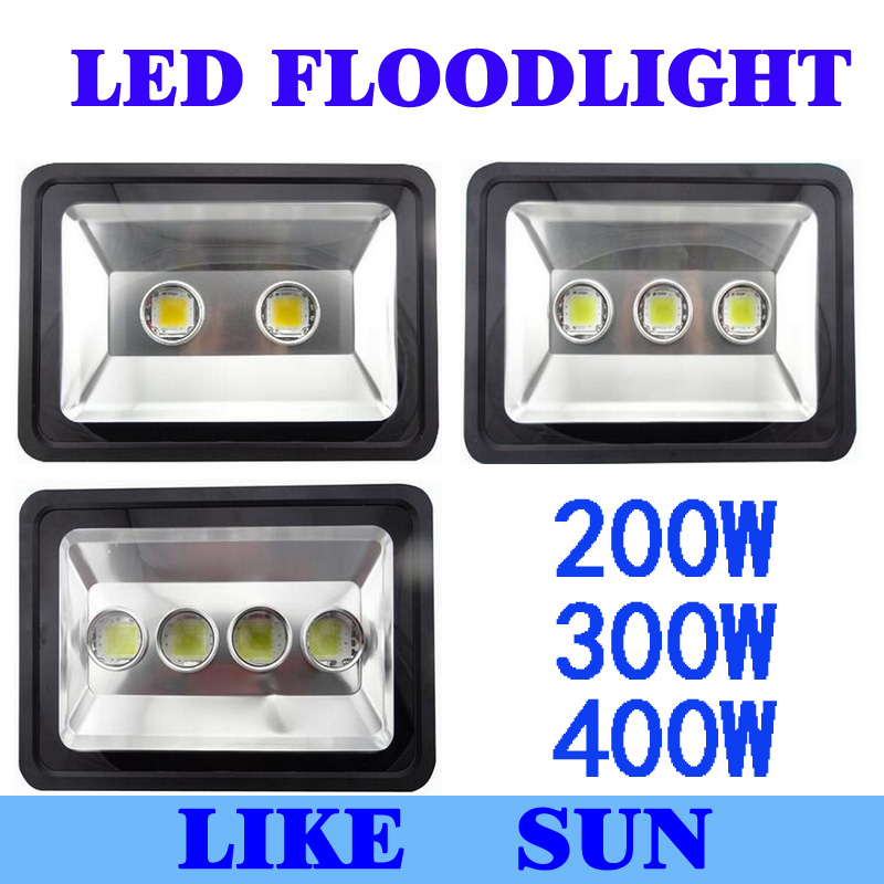 AC85-265V 200W 300W 400W LED Floodlight Outdoor LED Flood light lamp waterproof LED Tunnel light lamp street lapms