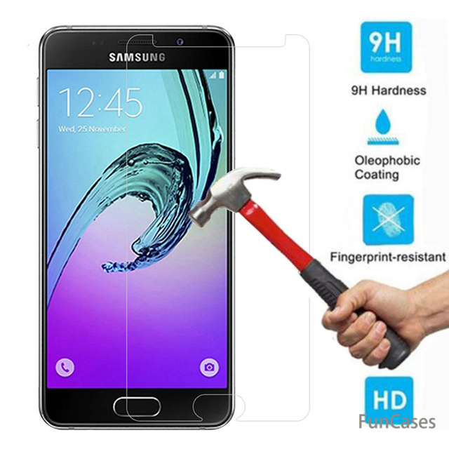 Screen Protector Tempered Glass for Samsung Galaxy J4 J6 A6 A8 2018 A3 A5 A7 2017 J1 J2 J3 J5 J7 2016 S3 S4 S5 S6 Note 3 4 5Film image