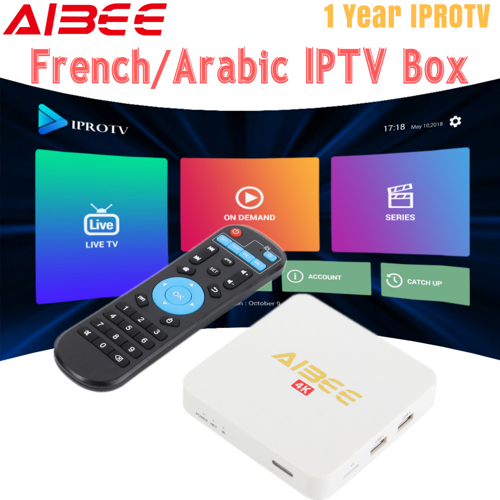 US $57 76 24% OFF|Android 7 1 TV Box with 1 Year IPROTV subscription Arabic  French Belgium IPTV 2300+ Europe Channel France IPTV 4K Smart TV Box-in