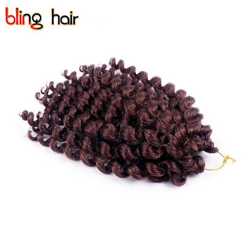 Bling Hair Extension Free Gifts Crochet Kanekalon Twist Braiding Hair Synthetic Wand Cur ...