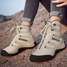 XIANGGUAN winter warm men hiking shoes anti slip sport shoes men cotton lining outdoor sport shoes men warm trekking shoes women
