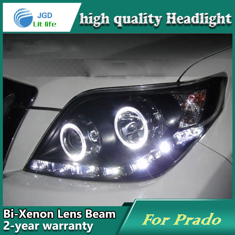 Car Styling Head Lamp case for Toyota Prado 2009-2012 Headlights LED Headlight DRL Lens Double Beam Bi-Xenon HID Accessories high quality car styling case for toyota prado 2003 2009 headlights led headlight drl lens double beam hid xenon car accessories