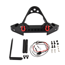 TRX4 Metal Front Bumper with LED Light for RC Rock Car Traxxas TRX-4 1 10 rc car simulation climbing car led light system for traxxas trx 4 trx4