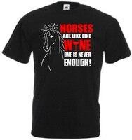 Funny Horses Are Like Wine T Shirt Horse Riding Wine Drinking Gift Idea F30b