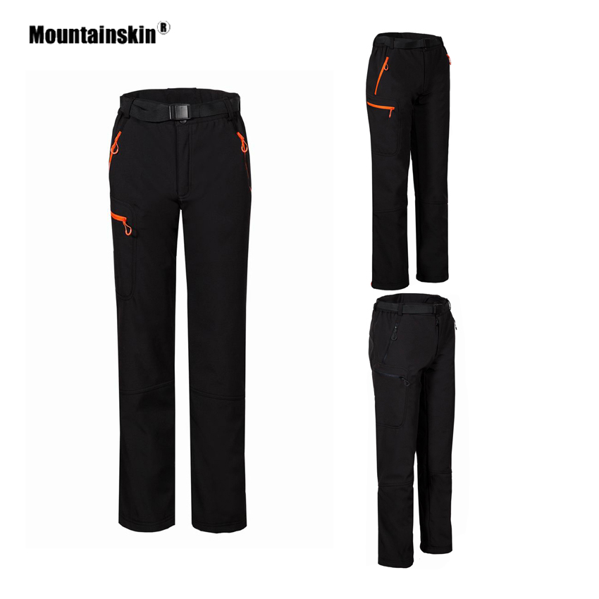Mountainskin Women's Softshell Fleece Pants Winter Outdoor Hiking Trekking Camping Climbing Skiing Female Thermal Trousers VB096