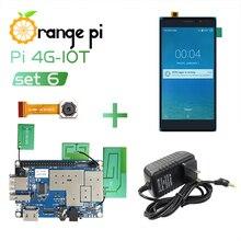 Oranje Pi 4G IOT Set6: oranje Pi 4G IOT + 5.5Inch Zwarte Kleur Tft Lcd Touch Screen 4G Camera + Voeding