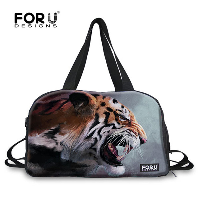 c10acd14e7 FORUDESIGNS Tiger Animal 3D Printing Fitness Bags for Men Outdoor Sport  Travel Bags Brand Designer Gym Bags Camping Handbags Boy
