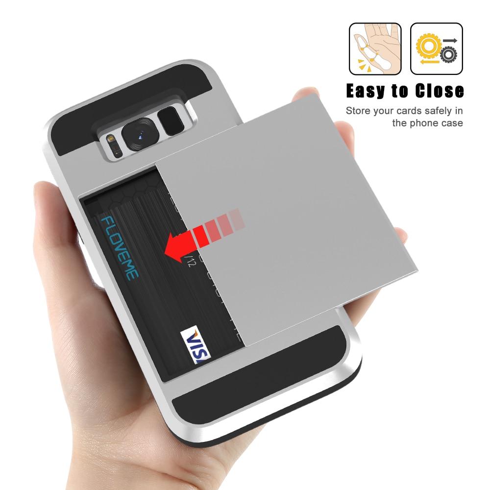 Funda de armadura de titular de tarjeta Kisscase para Samsung Galaxy - Accesorios y repuestos para celulares - foto 3