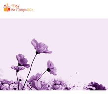 LIFE MAGIC BOX Backgrounds for Photo Purple Big Flowers Mother's Day Wedding Photo Backdrops for Studio(China)