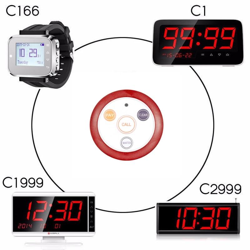 10*BellButton Waterproof for Wireless Restaurant Calling System Call Transmitter