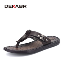 DEKABR Summer Slippers Casual Shoes Men Beach Slippers Wear Resistant Anti-Skid Flip Flops Men's Brand Comfortable Men Shoes