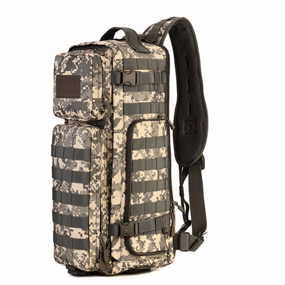Men Chest Sling Back Pack Mens Shoulder Bags Man Large Travel Military Back packs Molle Bags Outdoors Rucksack