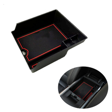For Renault Koleos 2017 2018 Non-Slip Central Armrest Container Holder tray storage Stowing Box With Mat inside Accessories