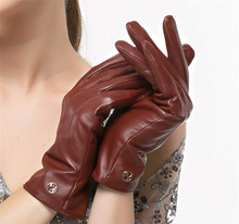 High quanlity Women's Genuine leather gloves Touchscreen