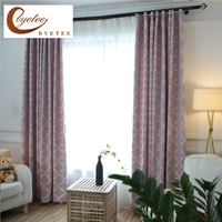 Byetee Window Curtain Fabrics Bedroom Cotton Linen Jacquard Kitchen Blackout Curtains Doors For Living Room