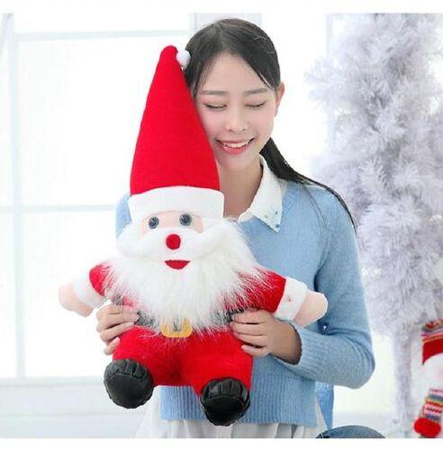 Environ 75 cm père noël et chapeau rouge poupée en peluche, oreiller, cadeau d'anniversaire, cadeau de noël b7802