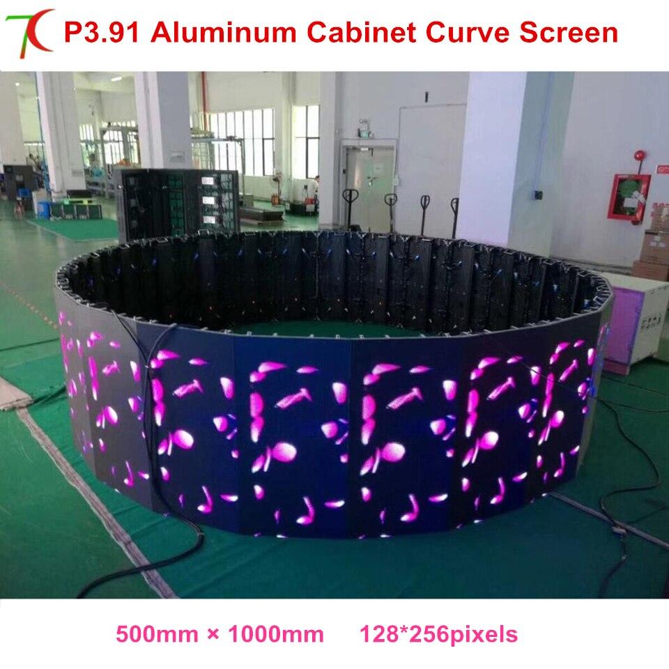 Curve Screen P3.91 Outdoor Waterproof  500*1000mm Die-casting Aluminum Equipment Cabinet  For Rental