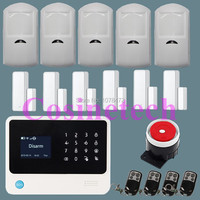 G90B Security Wireless Wifi GSM Alarm System Gas Detector Wireless Siren Smoke Detector