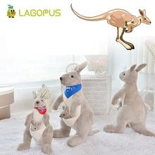 lagopus 40cm Dolls& Stuffed Toys for Children Animal Soft Plush Australia Kangaroo Carrying A Baby Collection Gift Kids