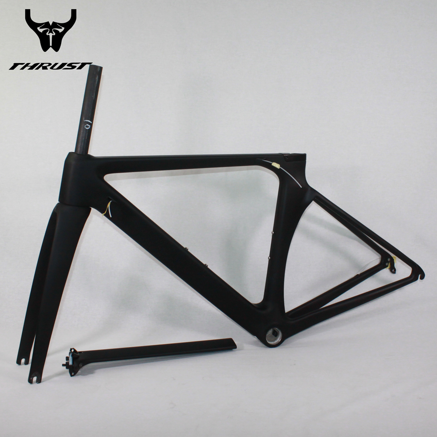 THRUST Carbon Road Frame T1000 BSA 2017 Carbon Fibre Road Bike Bicycle Frame 48/50/52/54/56/cm 700c aero Road Bicycle Parts wholesale 2017 newest thrust carbon road frame carbon road bike frame