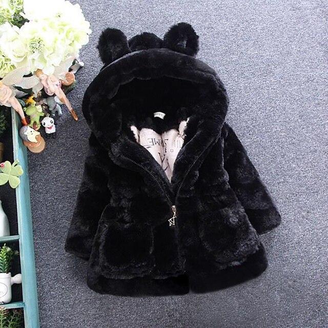 343e2a1c6c39e Nouveau-né bébé filles hiver manteau épais polaire enfant en bas âge fille  vêtements manteaux
