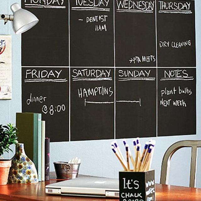 Superieur 45*200cm Large Blackboard Wall Sticker Chalkboard Stickers Removable Black  Board Krijtbord Pizarra Kids Office