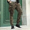 Hombres pantalones de camuflaje ocasional slim fit hip hop fresco lápiz de los hombres pantalones de chándal flacos pantalones de la manera de los hombres chándal xxl