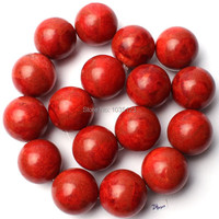 Free Shipping 24mm Natural Red Sponge Coral Round Shape Gem Loose Beads Strand 15 DIY Creative Jewellery Making w1917