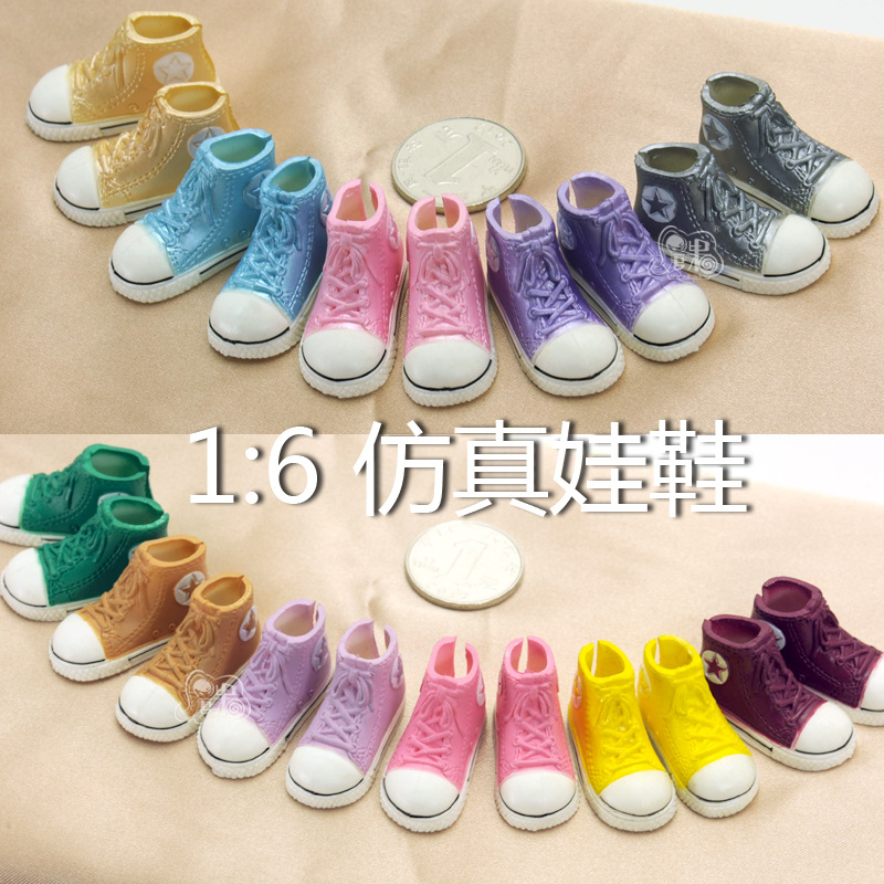 1pair 3.5cm Fashion Plastic Doll Canvas Snooker Shoes for Blythe BJD Dolls, Ball Joints Doll mini shoes Accessory uncle 1 3 1 4 1 6 doll accessories for bjd sd bjd eyelashes for doll 1 pair tx 03