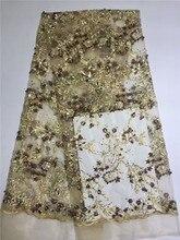 Graceful Französisch stickerei Französisch spitze Afrikanischen tüll stoff mit steinen für abendkleid PNZ155 (5 yards/pc) multi farbe