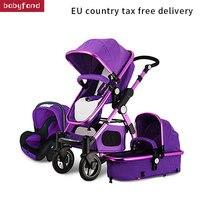 Бесплатная доставка! Детские коляски 3 в 1 с Автокресло для новорожденных зрения коляска складная детская коляска Путешествия Системы de bebe 3