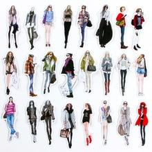5packs 스티커 아름다움 소녀 스티커 PVC 스크랩북 핸드 북 일기 여자 아이 장난감 스케이트 보드 방수 스티커 장난감 pegatinas