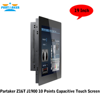 19 19 Inch LED Industrial Panel PC with 5 Wire Resistive Touch Screen Windows 7/10/Linux Ubuntu Intel Celeron 3855U Partaker Z16T (3)
