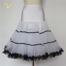Cheap price 4 Available Colors Short Soft Petticoat Crinoline Wedding Bridal For Dresses Underskirt Rockabilly