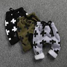2-6 Años Invierno Baby boy pantalones de los niños Ocasional Muchachos Gruesos Pantalones de Algodón de Los Niños Calientes de lana de Los Niños pantalones harén Z011