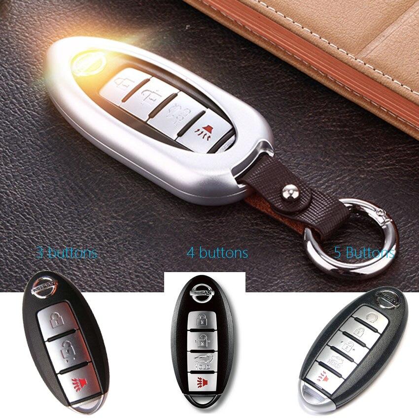 Aluminium Car Key Cover Case shell For Nissan Teana X-Trail Qashqai Note Altima Livina Sylphy Tiida Sunny Juke Murano Car Key